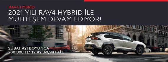 2021 Yılı RAV4 Hybrid ile Muhteşem Devam Ediyor!