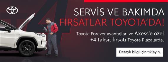 AXESS'E ÖZEL +4 TAKSİT FIRSATI TOYOTA PLAZARLARDA!