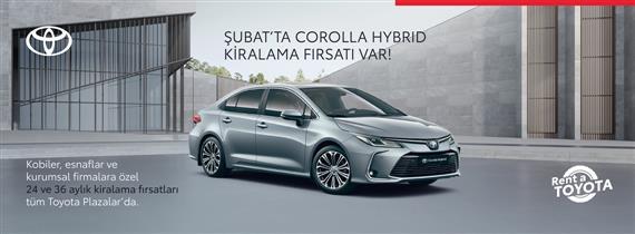 Şubat'ta Corolla Hybrid Kiralama Avantajı Var!