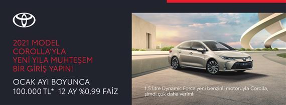2021 Corolla'yla Yeni Yıla Muhteşem Bir Giriş Yapın