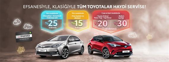 Efsanesiyle, Klasiğiyle Tüm Toyotalar Haydi Servise!