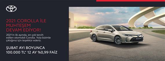 2021 Corolla ile Muhteşem Devam Ediyor!