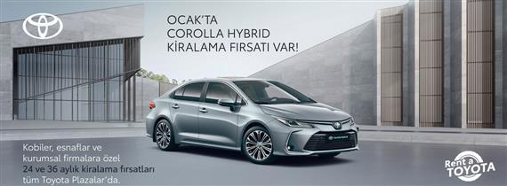 Ocak'ta Corolla Hybrid Kiralama Fırsatı Var
