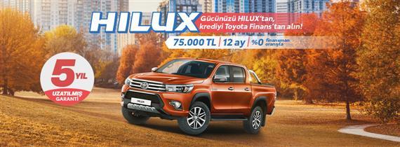 Gücünüzü Hilux'tan, krediyi Toyota Finans'tan alın!
