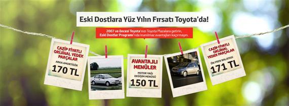 Eski Dostlara Yüz Yılın Fırsatı Toyota'da!